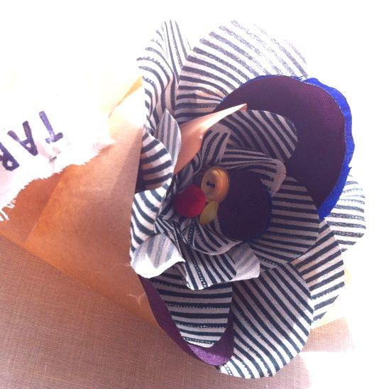 元紺屋町にある元染物屋さんだったMOTOKONYAで大切な人への布ブーケを作ろう