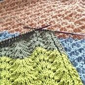 夏も編みもの!棒針で透かし編み 第3回ジョウモウ大学ニットカフェ